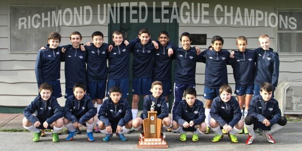 Richmond United: U13 Metro Champions